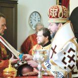 В Неделю 5-ю по Пасхе, о самаряныне, епископ Серафим совершил Божественную литургию в Никольском соборе Бобруйска