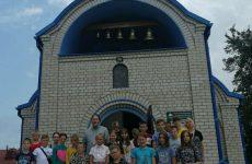 Воспитанники летнего лагеря посетили Благовещенский храм г. Кличева