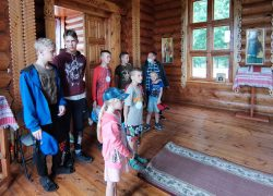 Закончилась смена в детском православном поселении «Отрада» в деревне Чигиринка