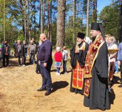 Епископ Серафим совершил освящение часовни деревни Ухлясть Быховского района